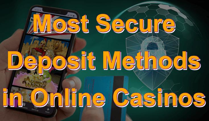Online Gambling Security - Deposit Methods